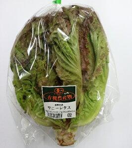 【フルヤの安心野菜】【冷蔵】有機サニーレタス 1株  国産