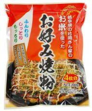 【送料無料(メール便)】お米を使ったお好み焼き粉 200g 桜井 代引・同梱 不可