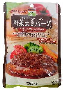 デミグラスソース野菜大豆バーグ 100g 三育 恒食