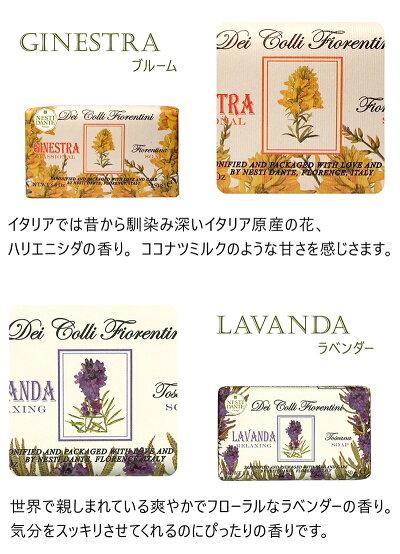 石鹸固形いい香りボディソープハンドソープネスティダンテフィオレンティーニシリーズ150g×6個セットハンドメイドイタリア製植物性100%アイリスポピーハリエニシダラベンダーウッディバイオレット