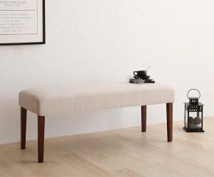機能系テーブルダイニングセット 天然木ウォールナット材 デザイン伸縮ダイニングセット ベンチ 2P