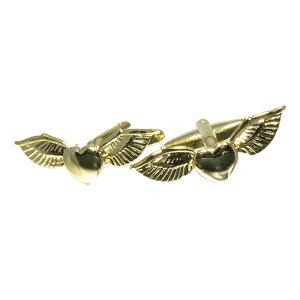 【メール便送料無料】【メール便可10】ハートの翼 ゴールドカフスボタン cufflinks カフリンクス メンズ レディース CF-156629 [ ユニーク 人気 おしゃれ 面白い プレゼント ギフト ]