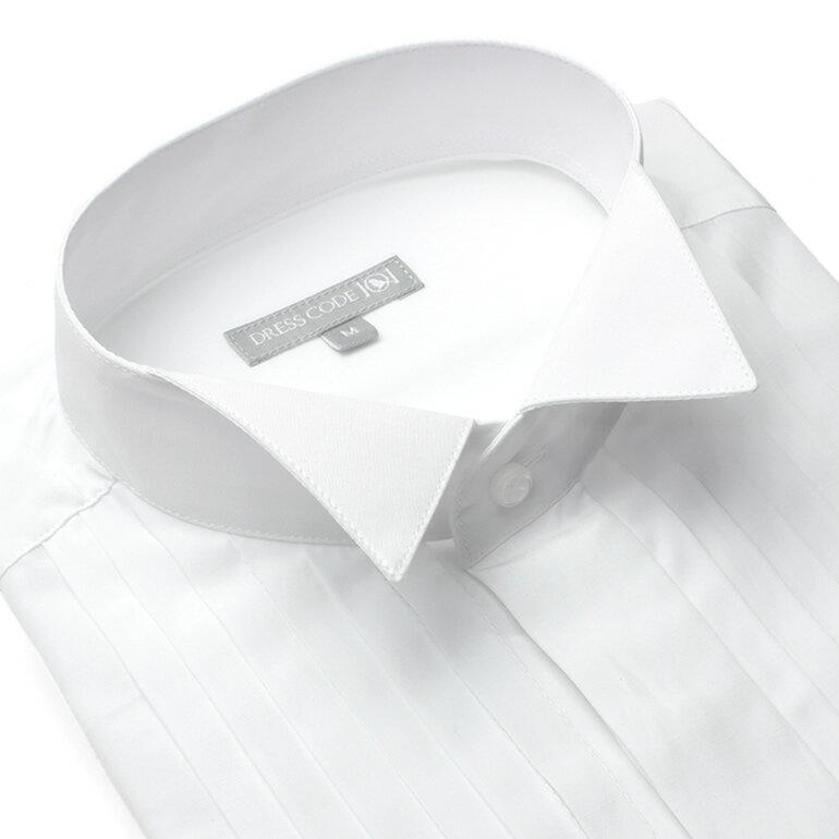ウィングカラーフォーマルシャツ【結婚式やパーティーに】( DRESS CODE ドレスシャツ フォーマル メンズシャツ ) メンズドレスシャツ SHIRT-4012[ウイングカラー ダブルカフス スリム スマート 紳士用 男性用 結婚式 パーティー 2次会 フォーマル 白 おしゃれ]