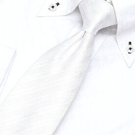 snap tie ネクタイ スナップタイ ワンタッチ メンズ 男性 紳士/TIE-SNAP-781REI [ワンタッチネクタイ 結ばない クイックネクタイ フック ビジネス スーツ フォーマル ホワイト 白 ストライプ 冠婚葬祭 結婚式]