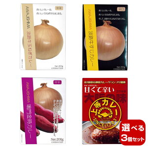 【選べる3個セット】キャニオンスパイス ご当地食材シリーズA レトルトカレーセット×3