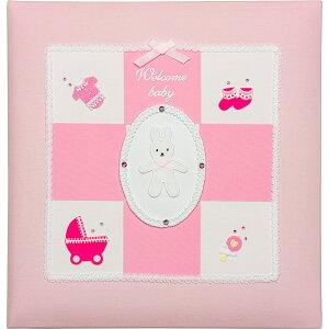 フエルアルバム ウェルカムベビーアルバム<ピンク>[アH-LB-501-P](C4076559)お祝い プレゼント 引き出物 内祝い 記念品 おしゃれ ディズニー 出産祝い 結婚祝い かわいい フォトフレーム de 生地