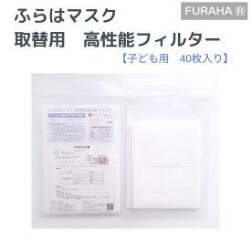 【日本製】不織布マスクフィルター 40枚 不織布 フィルター 布マスク用 マスクシート ふらはマスクフィルター 40枚入り 日本製 マスクフィルタ 国産 ウィルス 花粉対策 FURAHA ふらは ブロンマ Blomma PM2.5対策マスク 0.1ミクロン捕集 高機能マスクフィルター