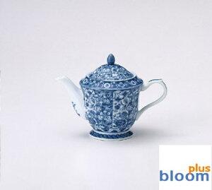 【花凛】【美濃焼】染付更紗ポット茶器揃【染付,藍,茶器セット】【bloom-plus】