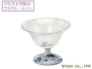 美濃焼とガラスのコラボガラスデザート鉢/さくら染11.5x高8.5cm【デザート,スイーツ,珍味,一品】【madeinjapan】【bloom-plus】