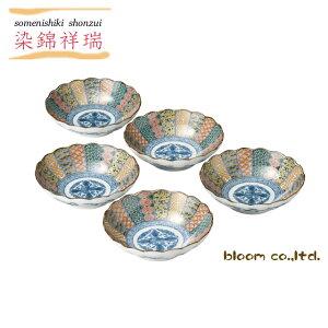 美濃焼染錦祥瑞煮物鉢揃径16.5x4.5cm煮物鉢和食器セット16センチ日本製tablewarebowlmadeinjapanbloom-plus