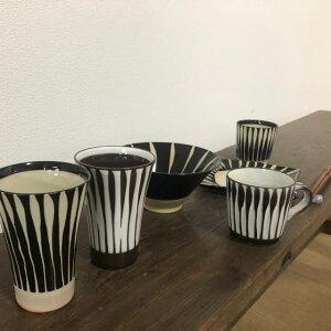 美濃焼黒十草マグカップ【径8.5x8.5cm】【mug,gift,かわいい】【鈴木陶苑,madeinjapan】【bloom-plus】