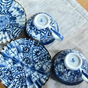 美濃焼翔武窯手描きペア碗皿
