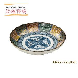 美濃焼染錦祥瑞中皿径16.5x3.5cm取皿16cm和食器祥瑞tablewaredishmadeinjapanbloom-plus