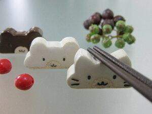 美濃焼atelier8409ねこかお箸置4x2cmAnimalCraftChopstickrestBear熊かわいい美濃焼日本製madeinjapanbloom-plus