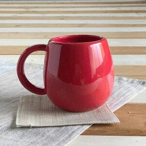 縁起だるまマグカップ赤径6x高8.5cm美濃焼ブルーム日本製陶器食器プレゼントかわいい赤だるま癒し自分時間bloomplus
