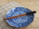 美濃焼アウトレット/ギフト対象外 染付ネジリ祥瑞大皿【tableware,dish,plate,made in japan】【bloom-plus】