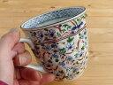 【アウトレット】美濃焼/ギフト対象外 ネジリ花絵マグカップ/青 【径9x高9cm/330ml】【ネジリ花絵のかわいいマグ,マグカップ,はな】 …