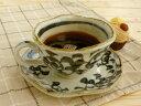 美濃焼アウトレット/ギフト対象外 手描きタコ唐草コーヒーカップソーサー【碗)径11x高6cm/220ml】【おうちカフェ】【Coffee cup,made…