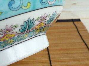 緑彩唐草高台中華鉢丼【美濃焼】【ラーメン鉢/緑彩/唐草/訳あり/ブルームプラス】