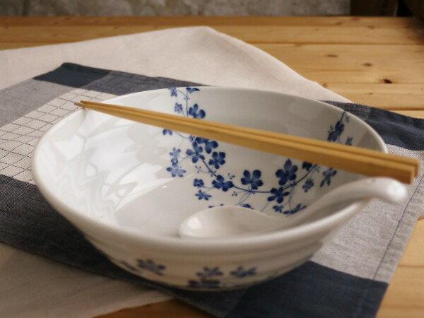 美濃焼/ギフト対象外 ブルーストロベリーラーメン鉢【径21x高7.8cm】【Bowl,noodle,made in japan】【bloom-plus】