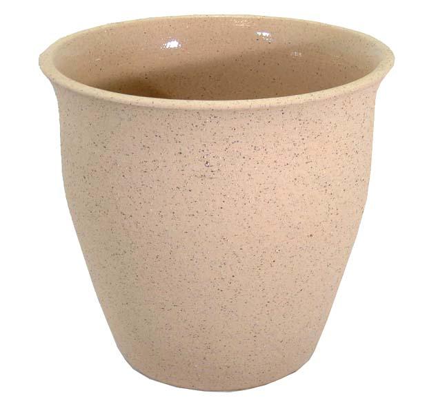 スピカライトブラウン 8号 (信楽焼陶器鉢カバー)