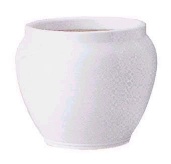 ホワイトテラコッタTW10号(信楽焼陶器鉢カバー)