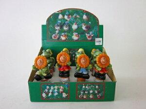 ウォーターキーパー(かえる・あひる・ひまわり)かわいい人形がガーデニングのお手伝いをしてくれます。大変な毎日の水やりがとても楽になり、また鉢のお花をかわいく飾ります。