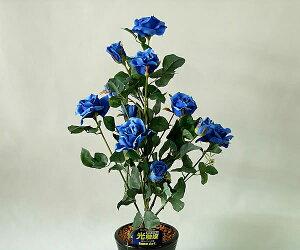 ばら(バラ・薔薇)1本立 青(ブルー)光触媒とアミノ酸のダブルコーティング 消臭力と抗菌力を発揮するアートフラワー(造花)【smtb-s】