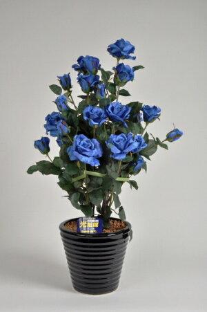ばら(バラ・薔薇)2本立青(ブルー)光触媒とアミノ酸のダブルコーティング消臭力と抗菌力を発揮するアートフラワー(造花)【smtb-s】