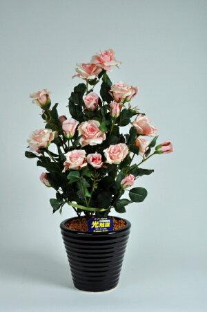 ばら(バラ・薔薇)2本立(ライトピンク)光触媒とアミノ酸のダブルコーティング消臭力と抗菌力を発揮するアートフラワー(造花)【smtb-s】