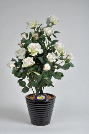 ばら(バラ・薔薇)2本立白(ホワイト)光触媒とアミノ酸のダブルコーティング消臭力と抗菌力を発揮するアートフラワー(造花)【smtb-s】