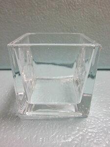 ブロックガラス 6cm 5個セット 小物入れ 硝子 ガラス グラス ガラス製 ガラスケース 花瓶 ハイドロカルチャー 水耕栽培 観葉植物 お中元 お歳暮 母の日 プレゼント ギフト 敬老 インテリア プ