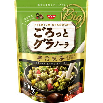 Nissin Cisco about getting and Granola Uji Matcha green tea 500 g