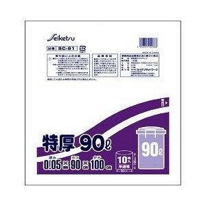 ゴミ袋 特厚ペール用 90L 半透明 SC-91 10枚入 【正規品】