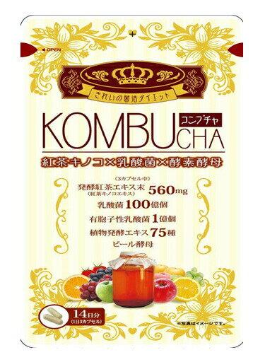 ○【 定形外・送料340円 】 KOMBUCHA 42粒【正規品】コンブチャ