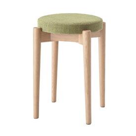 ラウンドスツール 丸型いす 腰掛椅子 いす 積み重ね収納 布張り 玄関 ドレッサー リビング シンプル 天然木 木製 スタッキングスツール