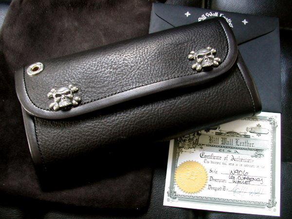 BWL(ビルウォールレザー)ラージカレンシーウォレット財布イタリアンレザー