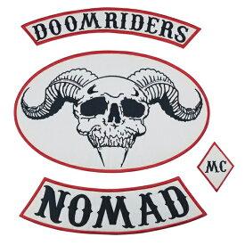 1%er MC モーターサイクルクラブパッチ NOMAD DOOM アイロンパッチ チョッパー イージーライダース ヘルズエンジェルス アメリカン ダイナ ソフテイル ツーリング スポーツスター Harley Davidson 81 support Hells Angels