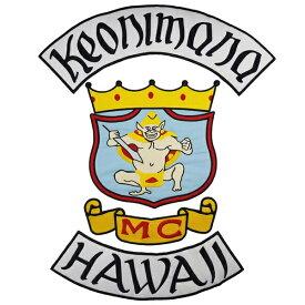 1 HAWAII 1%er MC モーターサイクルクラブパッチ アイロンパッチ チョッパー イージーライダース ヘルズエンジェルス アメリカン ダイナ ソフテイル ツーリング スポーツスター Harley Davidson 81 support Hells Angels