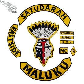 MALUKU 1%er MC モーターサイクルクラブパッチ アイロンパッチ チョッパー イージーライダース ヘルズエンジェルス アメリカン ダイナ ソフテイル ツーリング スポーツスター Harley Davidson 81 support Hells Angels