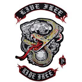snake 1%er MC モーターサイクルクラブパッチ アイロンパッチ チョッパー イージーライダース ヘルズエンジェルス アメリカン ダイナ ソフテイル ツーリング スポーツスター Harley Davidson 81 support Hells Angels