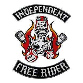 Free Rider 1%er MC モーターサイクルクラブパッチ アイロンパッチ チョッパー イージーライダース ヘルズエンジェルス アメリカン ダイナ ソフテイル ツーリング スポーツスター Harley Davidson 81 support Hells Angels