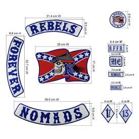 REBELS 1%er MC モーターサイクルクラブパッチ アイロンパッチ チョッパー イージーライダース ヘルズエンジェルス アメリカン ダイナ ソフテイル ツーリング スポーツスター Harley Davidson 81 support Hells Angels