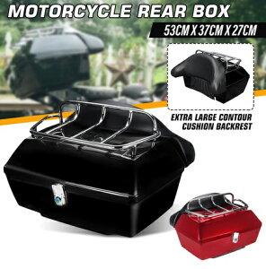 48L ユニバーサルオートバイ 後部収納ボックス トランクケース ツールボック ツアーパック トップケース ハーレー アメリカン