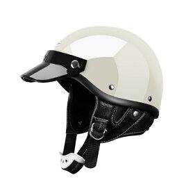 SHORTY ホワイト アイボリー ファッションヘルメット ショーティーヘルメット ディスプレ ヘルメット チョッパー ハーレー 各色あり BELL ハーフキャップ オーシャンビートル 好きの方へ ショーティー ポリス ショーティ