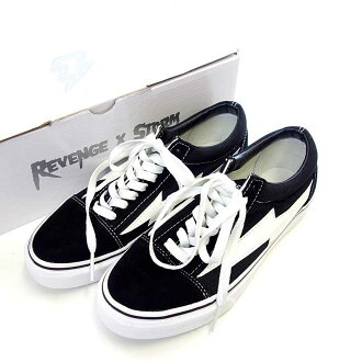 Revenge storm /REVENGE X STORM revenge storm low-frequency cut sneakers size US7 black X white rank N 102 10C17