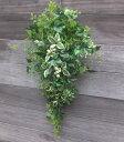 グリーン・ミックススワッググリーンのスワッグ・造花・外に飾るスワッグ・玄関リース・クリスマス・リース枯れないリ…