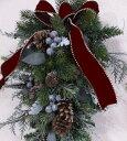 ナチュラルグリーン・スワッグCT触媒・CT触媒のスワッグ・造花のリースグリーのリース・モミのリースクリスマスリース…