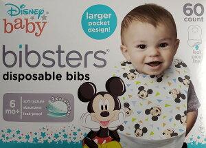 Bibsters スタイ 『ビブスター』よだれかけ ディズニー ミッキーマウス ミニー トイストーリー プリンセス  60枚 ビブスター ディズニー  柄入り 使い捨て 紙スタイ エプロン