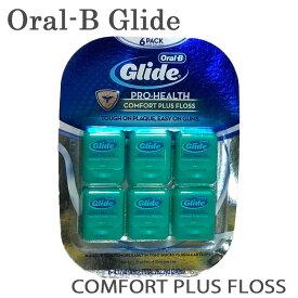 【メール便送料無料】Oral-B Glide 『グライド デンタルフロス』ミント 6パック Dental Comfort Plus Floss コンフォートプラス 40m×6個 240m 糸ようじ 歯間ブラシ 歯磨き